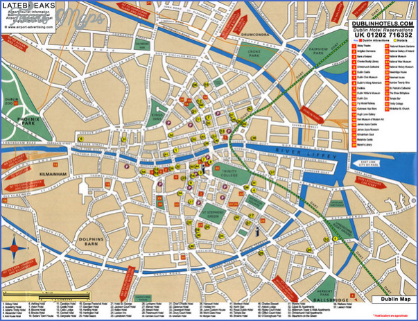 dublin map tourist attractions 4 Dublin Map Tourist Attractions