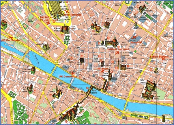 florence map tourist attractions 5 Florence Map Tourist Attractions