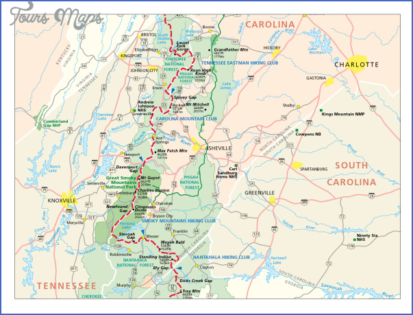 foothills trail map south carolina 11 FOOTHILLS TRAIL MAP SOUTH CAROLINA