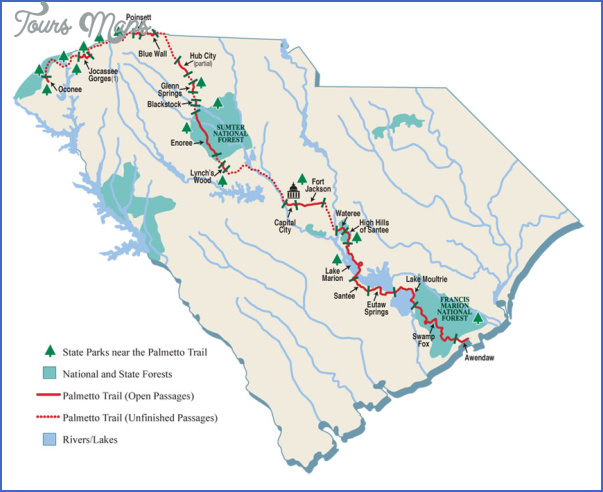 foothills trail map south carolina 2 FOOTHILLS TRAIL MAP SOUTH CAROLINA