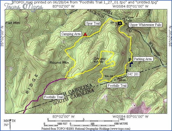 foothills trail map south carolina 5 FOOTHILLS TRAIL MAP SOUTH CAROLINA