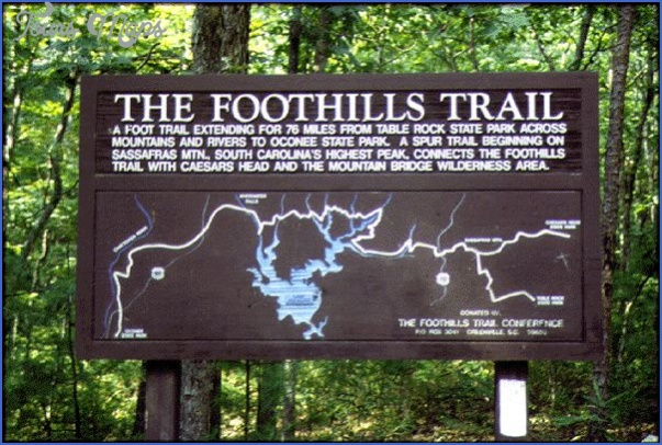 foothills trail map south carolina 7 FOOTHILLS TRAIL MAP SOUTH CAROLINA