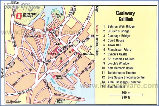 galway map tourist attractions 0 Galway Map Tourist Attractions
