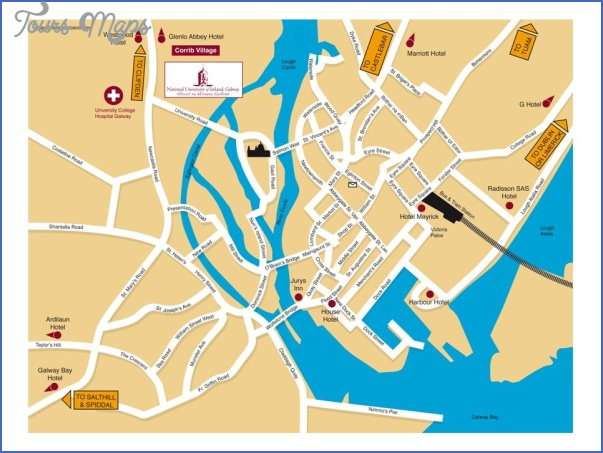galway map tourist attractions 2 Galway Map Tourist Attractions