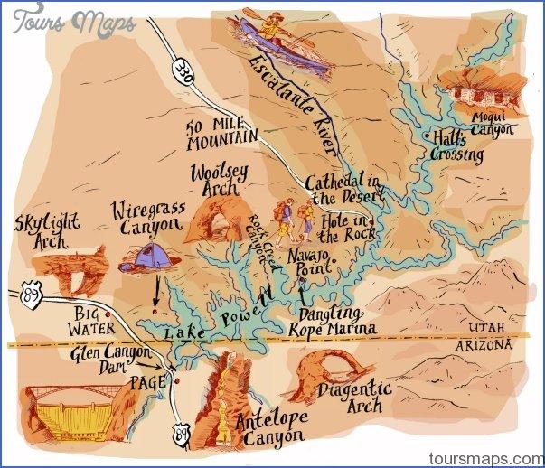 glen canyon national recreation area map utah 15 GLEN CANYON NATIONAL RECREATION AREA MAP UTAH