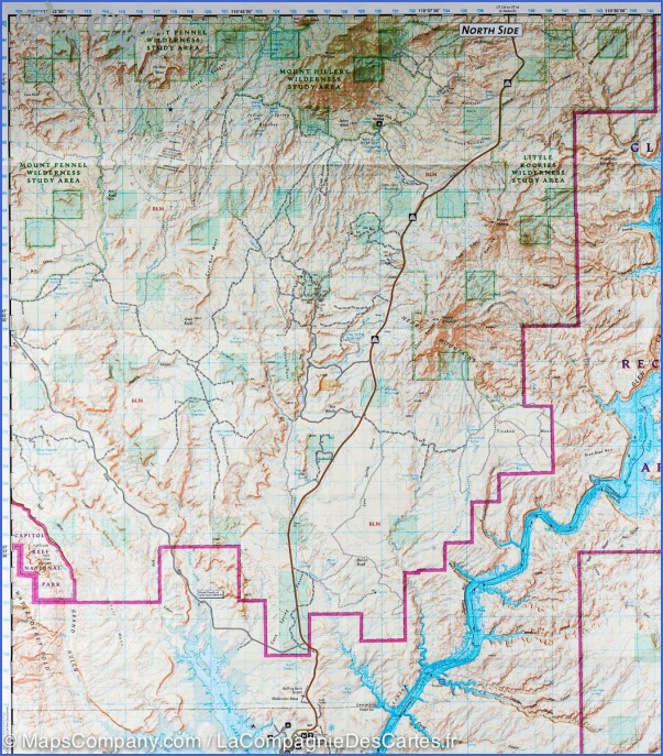 GLEN CANYON NATIONAL RECREATION AREA MAP UTAH_3.jpg