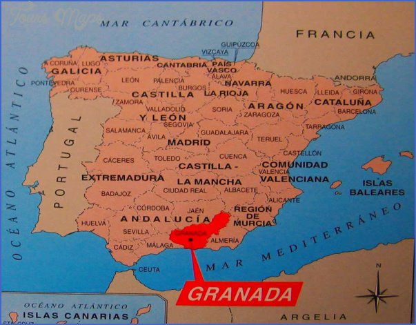 granada map tourist attractions 3 Granada Map Tourist Attractions