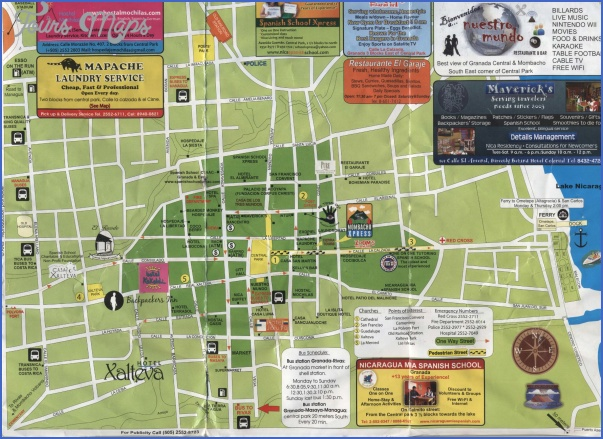 granada map tourist attractions 5 Granada Map Tourist Attractions