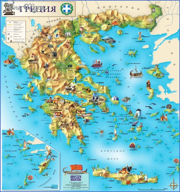 Greece Map Tourist Attractions ToursMapsCom – Greece Tourist Attractions Map