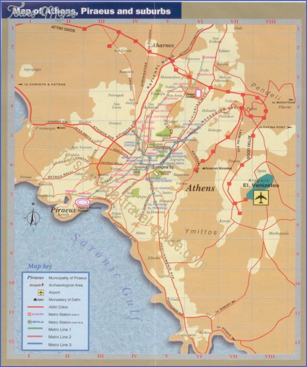 greece map tourist attractions 1 Greece Map Tourist Attractions