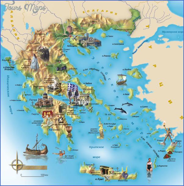 greece map 3 Greece Map