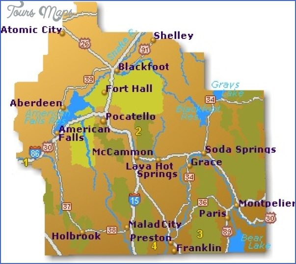 Idaho Map Tourist Attractions Toursmaps Com