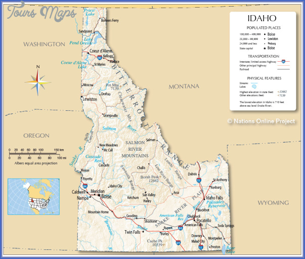 idaho map 1 Idaho Map