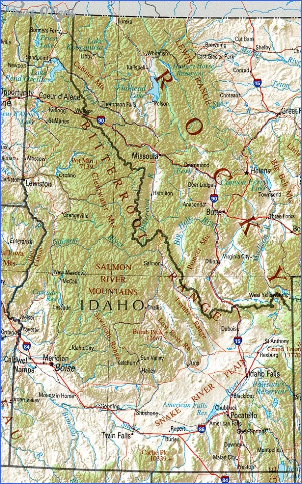 idaho map 3 Idaho Map