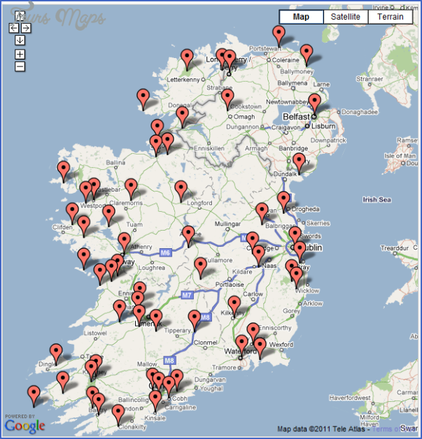 Maps Update 800900 Tourist Attractions Map In Ireland Ireland – Travel Map of Ireland