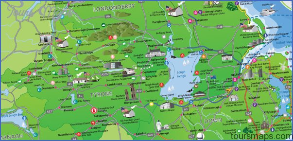 Ireland Map Tourist Attractions ToursMapsCom – Map Of Ireland With Tourist Attractions