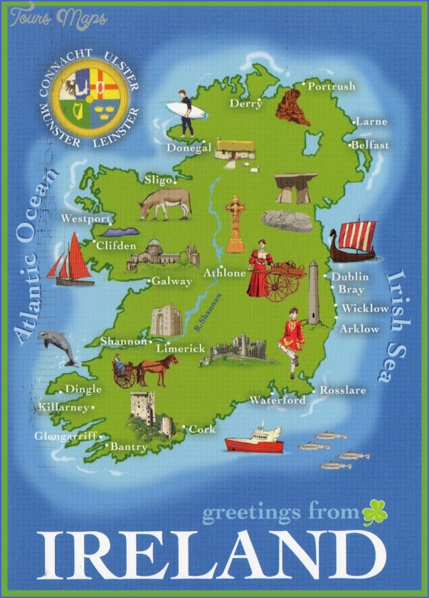 Ireland Map Tourist Attractions ToursMapsCom – Tourist Attractions Map In Ireland