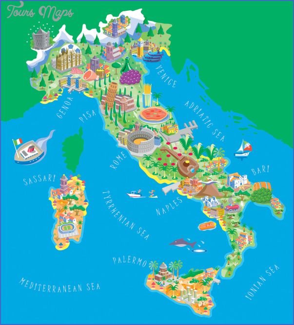 italy map tourist attractions 1 Italy Map Tourist Attractions