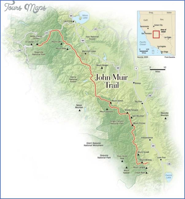 john muir trail map california 3 JOHN MUIR TRAIL MAP CALIFORNIA