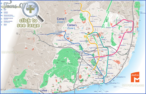Lisbon Map Tourist Attractions ToursMapsCom – Lisbon Tourist Attractions Map
