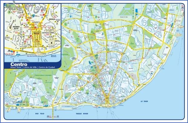 lisbon map tourist attractions 7 Lisbon Map Tourist Attractions