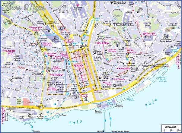 lisbon map 0 Lisbon Map