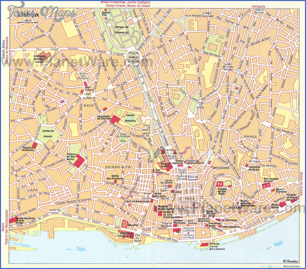 lisbon map 2 Lisbon Map
