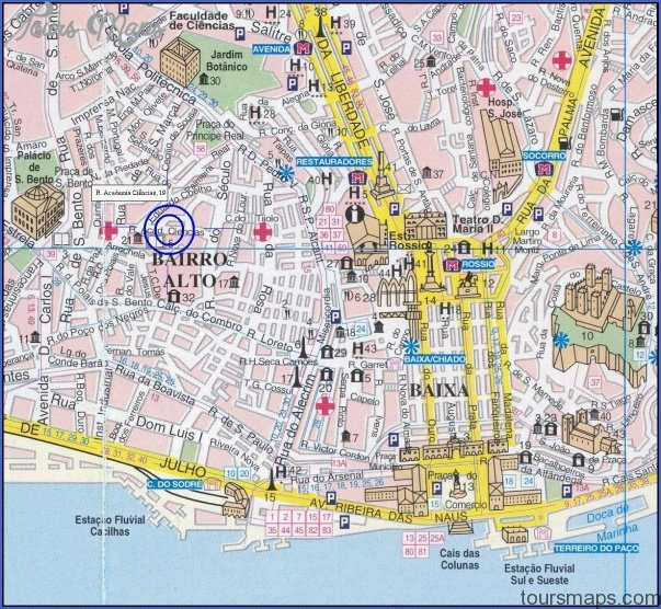 lisbon map 4 Lisbon Map