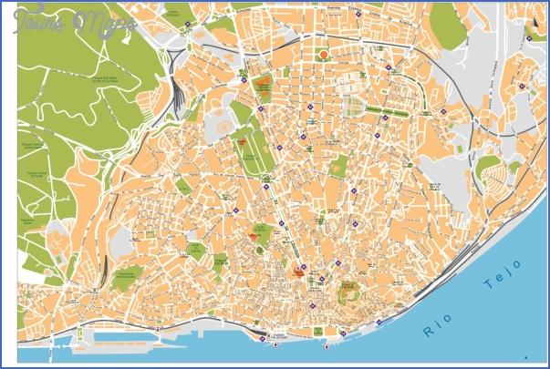 lisbon map 7 Lisbon Map