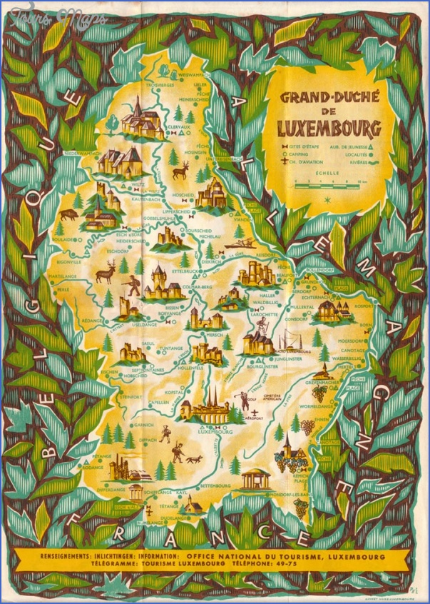 luxembourg map tourist attractions 0 Luxembourg Map Tourist Attractions
