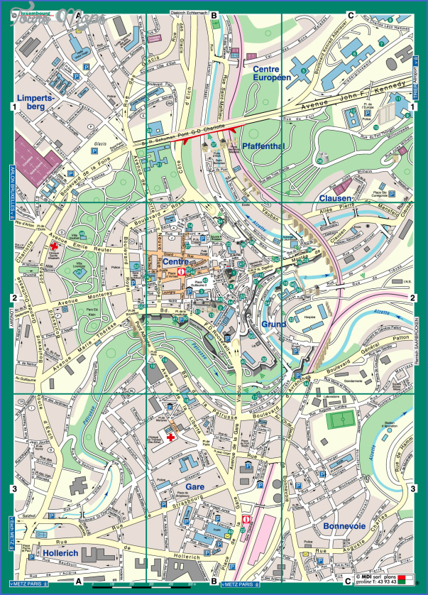 luxembourg map tourist attractions 1 Luxembourg Map Tourist Attractions
