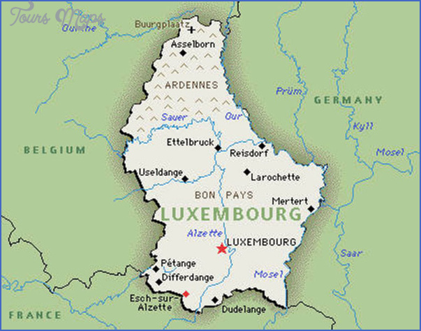 luxembourg map 1 Luxembourg Map