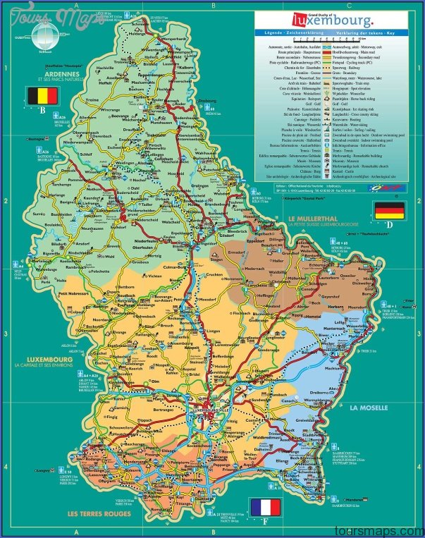 luxembourg map 4 Luxembourg Map