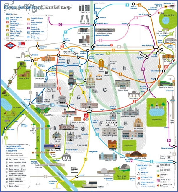 Madrid Map Tourist Attractions