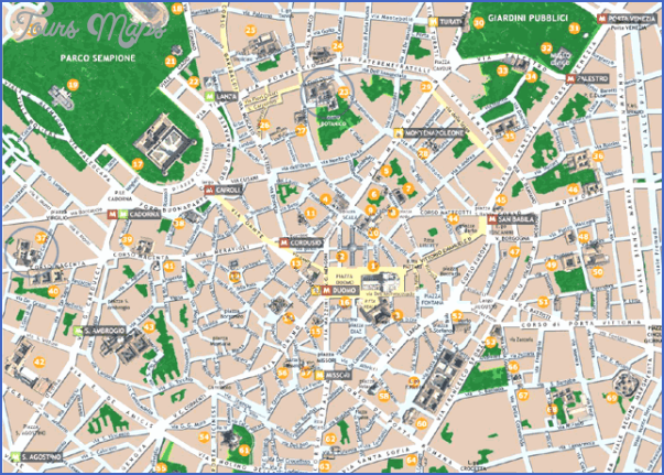 milan map tourist attractions 2 Milan Map Tourist Attractions