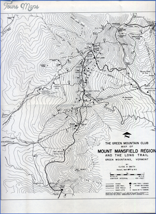 mount mansfield state forest map vermont 0 MOUNT MANSFIELD STATE FOREST MAP VERMONT