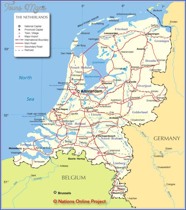 netherlands map 0 Netherlands Map