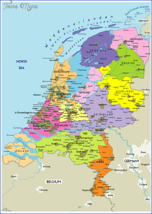 netherlands map 5 Netherlands Map