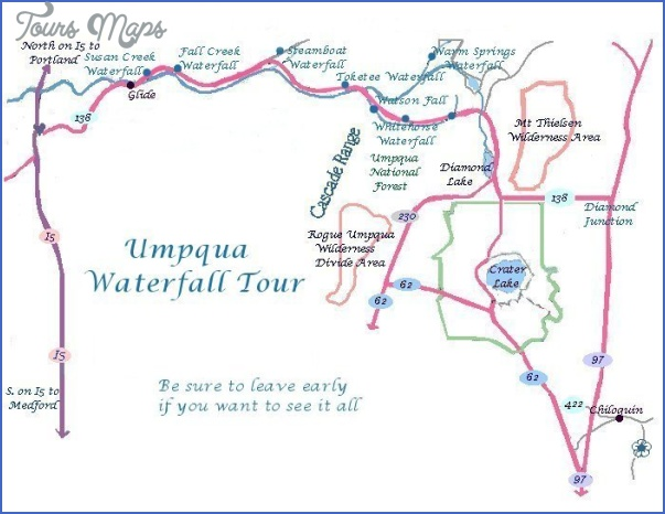 Umpqua Oregon Map.North Umpqua Trail Map Oregon Toursmaps Com