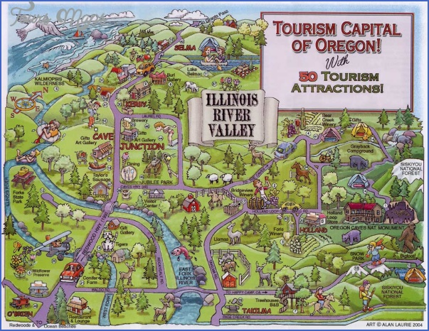 oregon map tourist attractions 2 Oregon Map Tourist Attractions