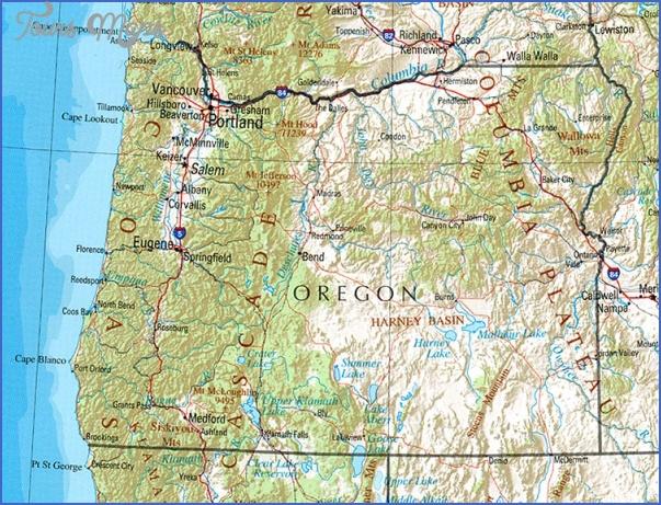 oregon map 1 Oregon Map