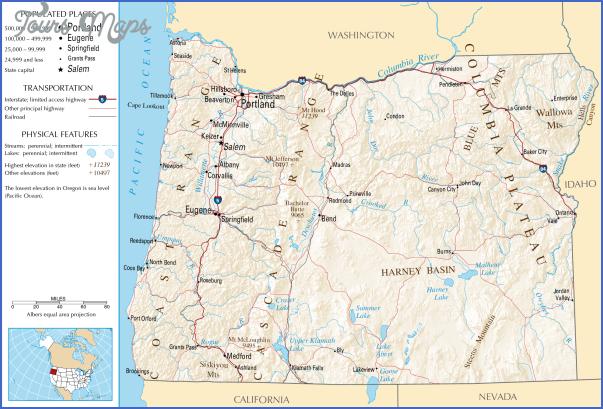 oregon map 3 Oregon Map