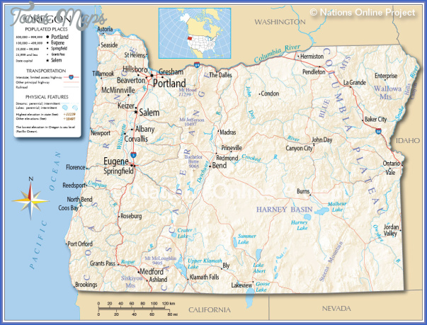 oregon map 4 Oregon Map