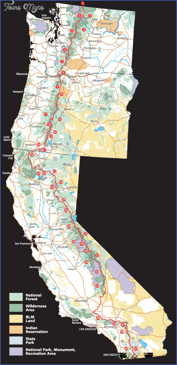 pacific crest trail map california 0 PACIFIC CREST TRAIL MAP CALIFORNIA