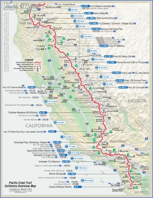 pacific crest trail map california 3 PACIFIC CREST TRAIL MAP CALIFORNIA