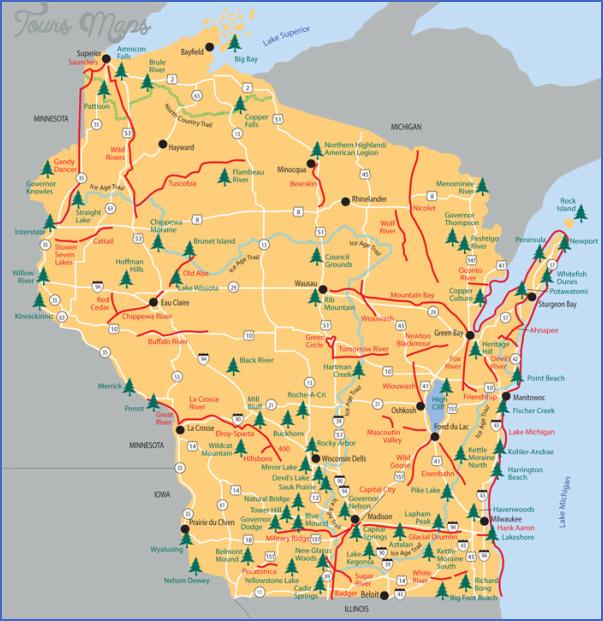 patt1son state park map wisconsin 3 PATT1SON STATE PARK MAP WISCONSIN