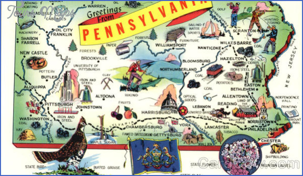 Pennsylvania Map Tourist Attractions ToursMapsCom – Pennsylvania Tourist Attractions Map