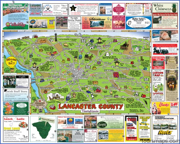 Pennsylvania Map Tourist Attractions ToursMapsCom – Tourist Attractions Map In Pennsylvania