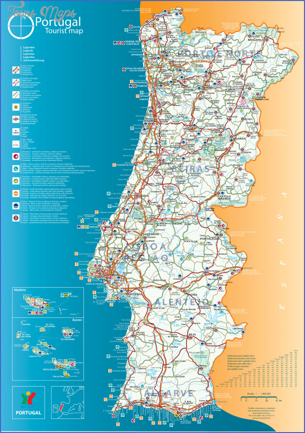 portugal map tourist attractions 1 Portugal Map Tourist Attractions
