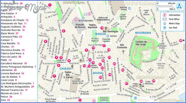 portugal map tourist attractions 5 Portugal Map Tourist Attractions